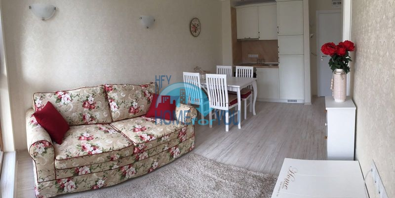 Светлый меблированный апартамент с одной спальней в элитном комплексе Harmony Suites 10, курорт Святой Влас