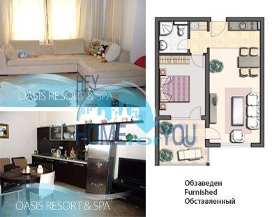 Меблированная квартира у моря в комплексе Оазис 2