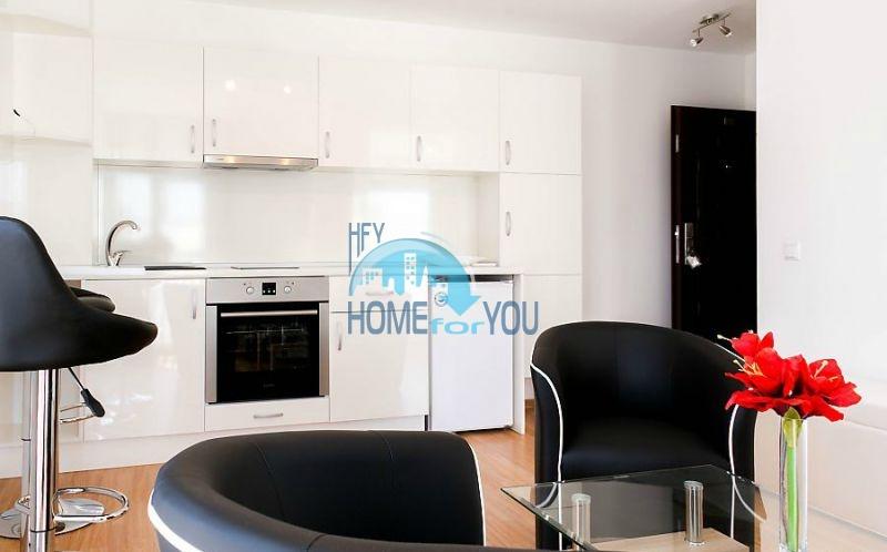 Новая однокомнатная квартира в жилом здании в курортном городке Черноморец