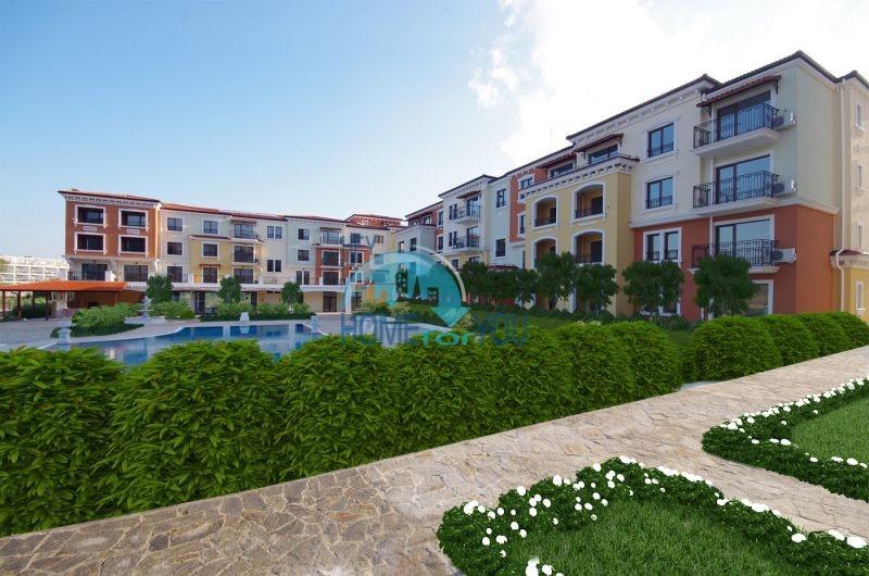 Новая трехкомнатная квартира с видом на море в комплексе Лили Бийч Ризорт, Созополь 3