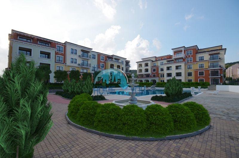Новая трехкомнатная квартира с видом на море в комплексе Лили Бийч Ризорт, Созополь 4