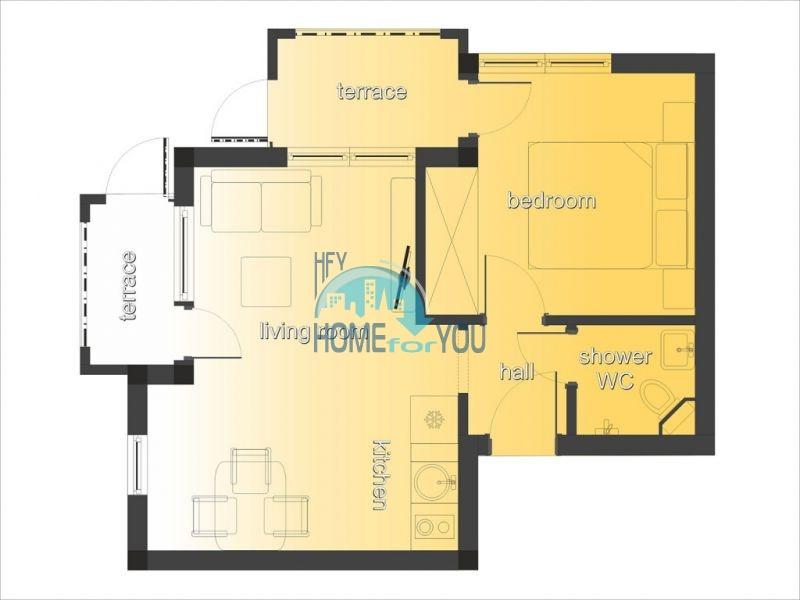 Очень уютная двухкомнатная квартира на курорте Святой Влас 11