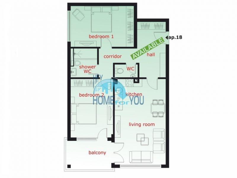 Прекрасная новая трехкомнатная квартира в Святом Власе 8
