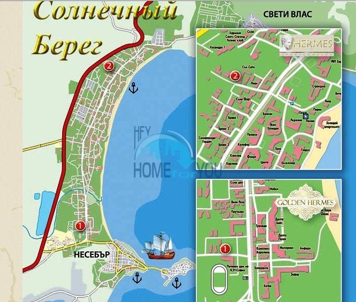 Продажа недорогих квартир в Солнечном береге - комплекс Golden Hermes 16