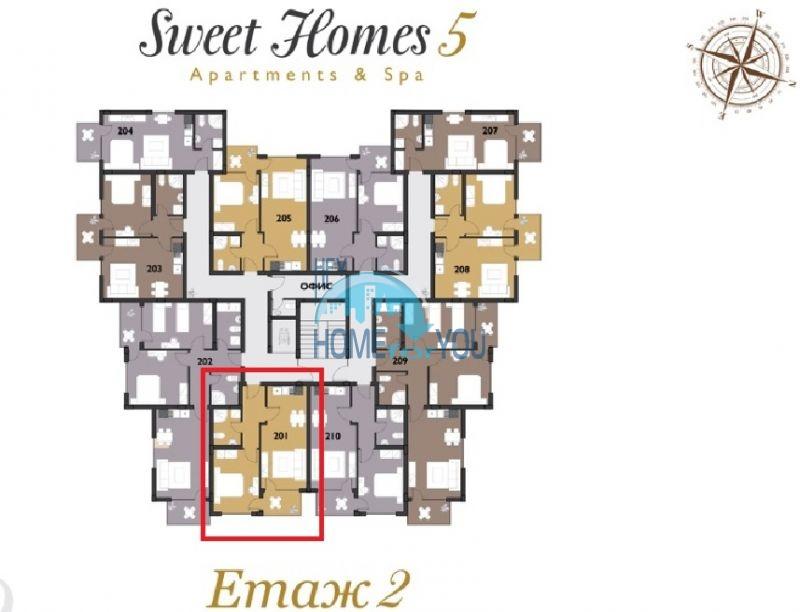Новая двухкомнатная квартира с мебелью в комплексе Sweet Homes 5 22