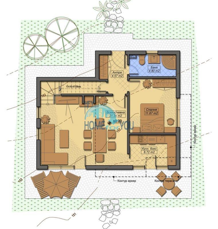 Новый капитальный дом для ПМЖ в селе Маринка 6