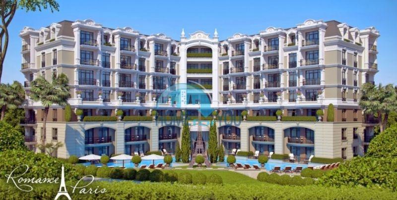 Элитные апартаменты на берегу моря в курорте Святой Влас - романтический комплекс Романс Париж