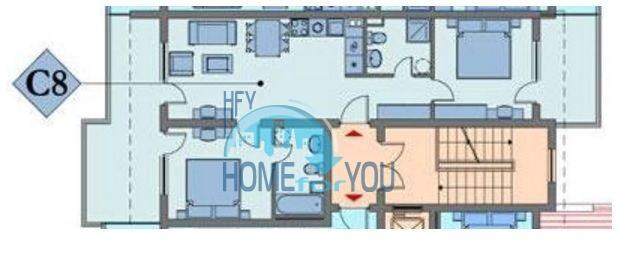 Квартира с двумя спальнямина второй линии на море в Святом Власе 16