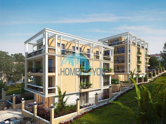 Варна. Практичные апартаменты для постоянного проживания в комплексе