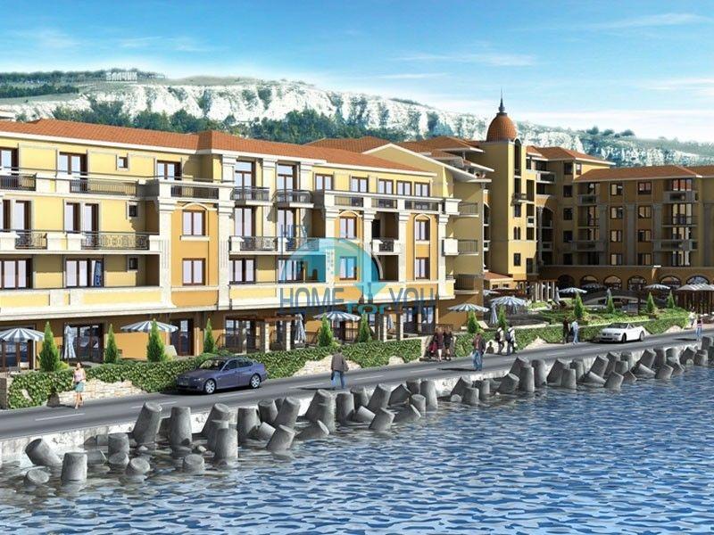 Апартаменты в шикарном комплексе на первой береговой линии в Балчике