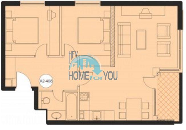Трехкомнатная квартира с шикарным видом на первой линии в Обзоре 17