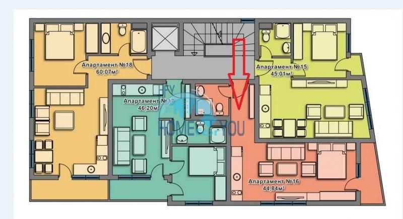 Просторная студия в новом жилом элитном доме в Поморие 19