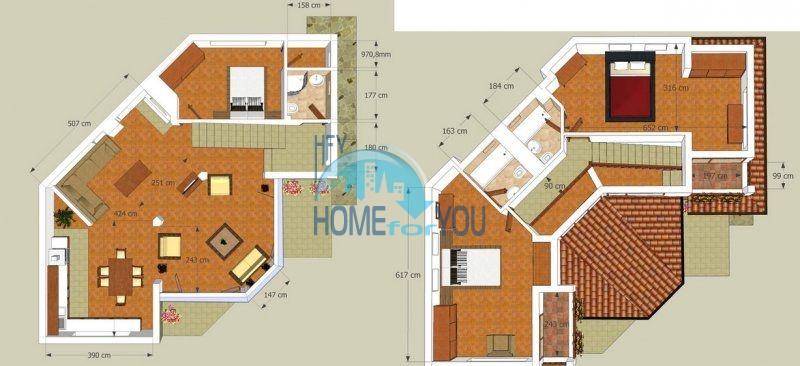 Капитальный дом для ПМЖ с видом на море в 15 минутах от Бургаса 22