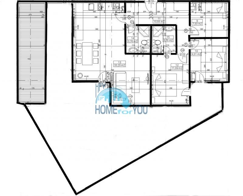 Продаются квартиры на первой линии моря в Обзор Бийч Резорт 33