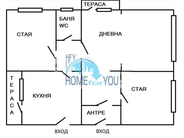 Многокомнатная квартира на продажу в центре города София 5