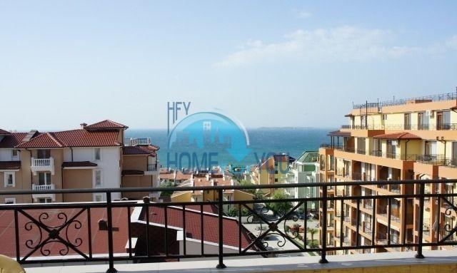Вид на море! Святой Влас, двухкомнатная квартира 57 кв.м с просторной террасой в комплексе