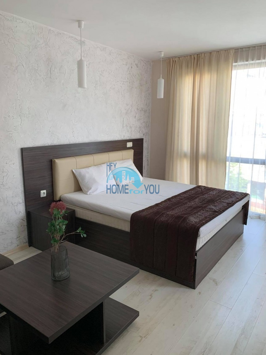 Солнечный берег, уютная однокомнатная квартира 38 кв.м с мебелью в комплексе