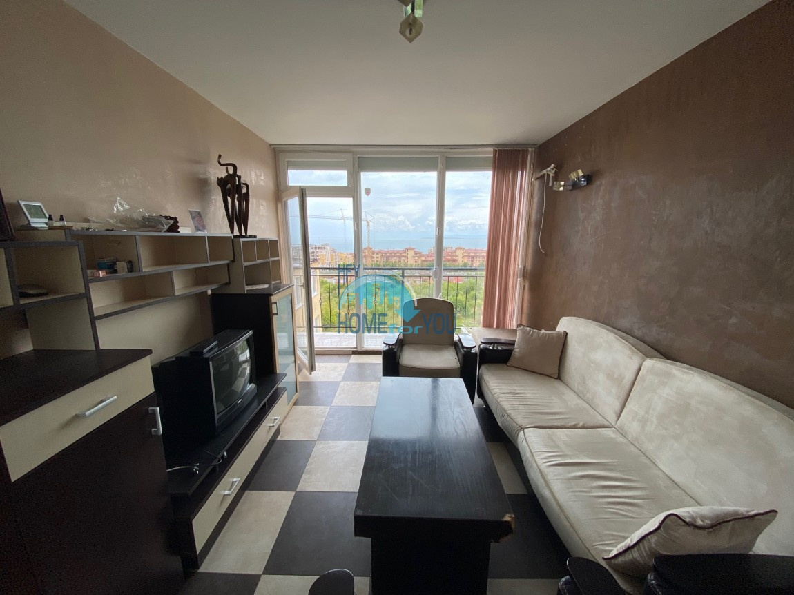 Святой Влас. Панорамный вид на море. Меблированная двухкомнатная квартира