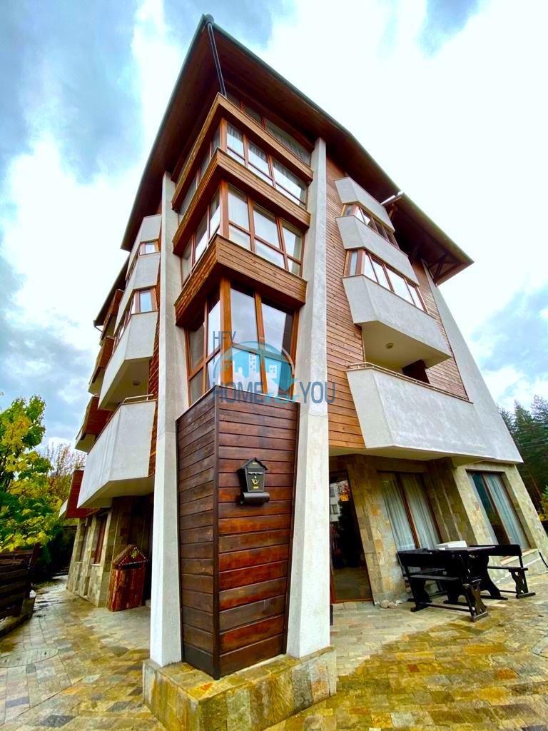 Банско. Уютная, большая однокомнатная квартира с видом на горы