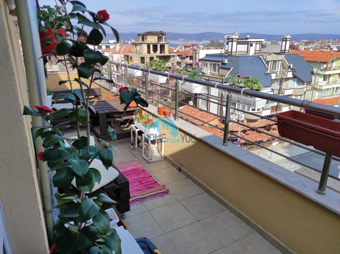 Несебр, без платы за обслуживание. Уютная современная студия 41 кв.м с потрясающим панорамным видом из обширной террасы