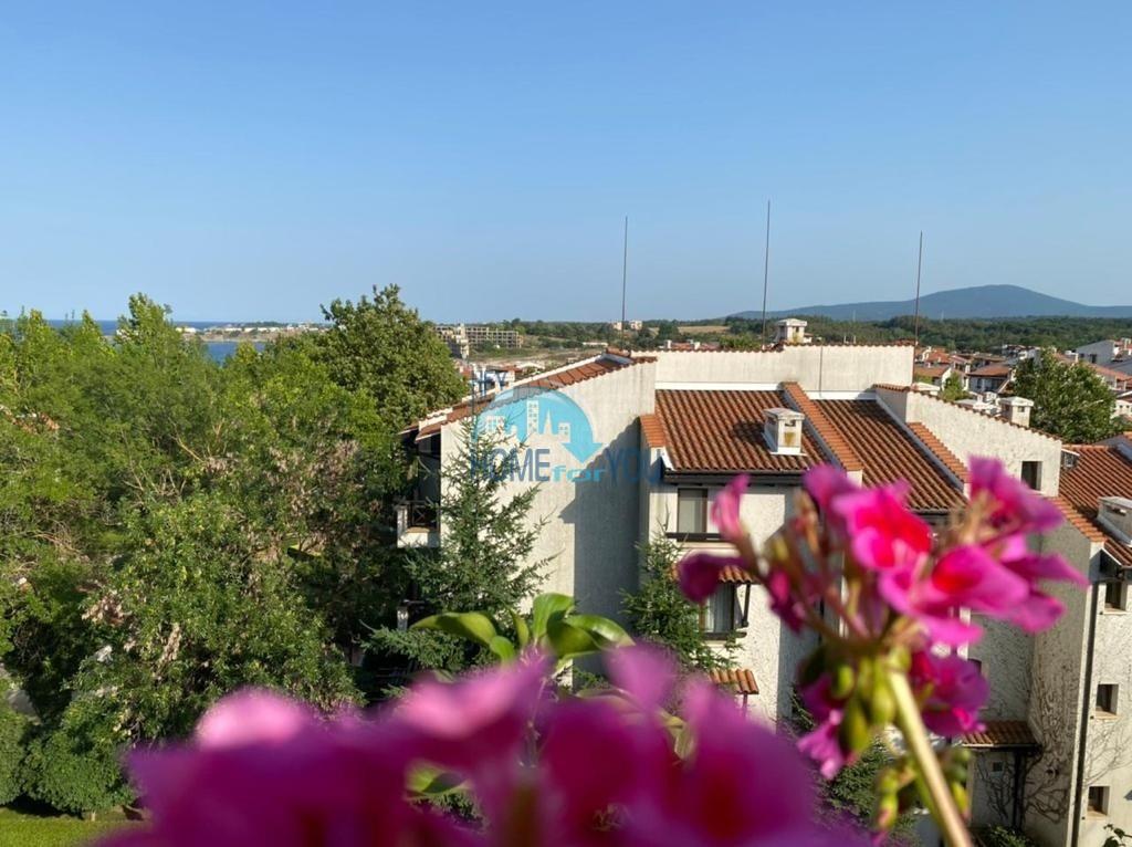 Двухкомнатная 76,60 кв.м с высоким потолком и видом на море в «Оазис Резорт и Спа», Лозенец
