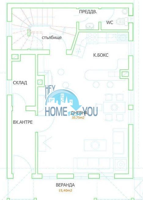 Двухэтажный новый дом для продажи в селе Велика, Царево 12