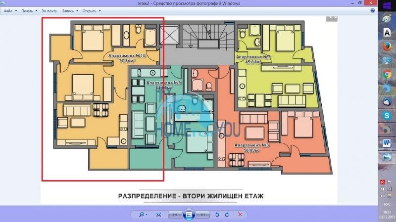 Трехкомнатная квартира в новом жилом доме в городе Поморие 16