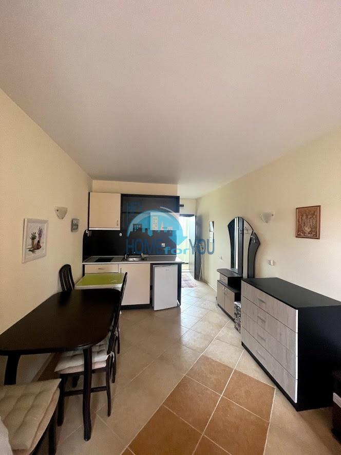 Солнечный берег, уютная однокомнатная квартира 41 кв.м с мебелью в комплексе