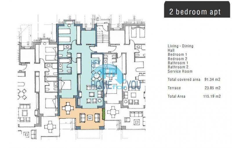 Трехкомнатная квартира на первой линии в Балчике комплекс Калиакрия Гарден 17