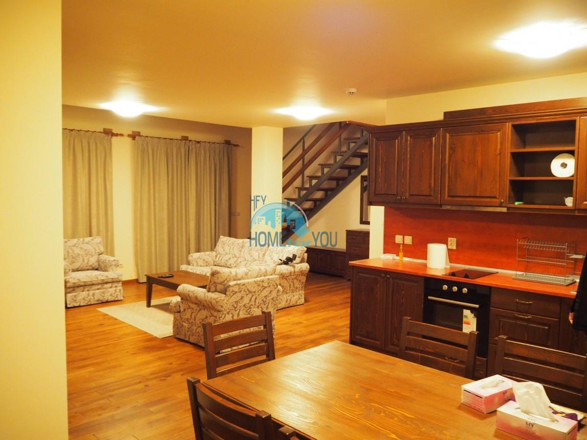 Элитный меблированный пентхаус с высокими потолками в 5-звездочном комплексе Pirin Golf & Country Club, Банско