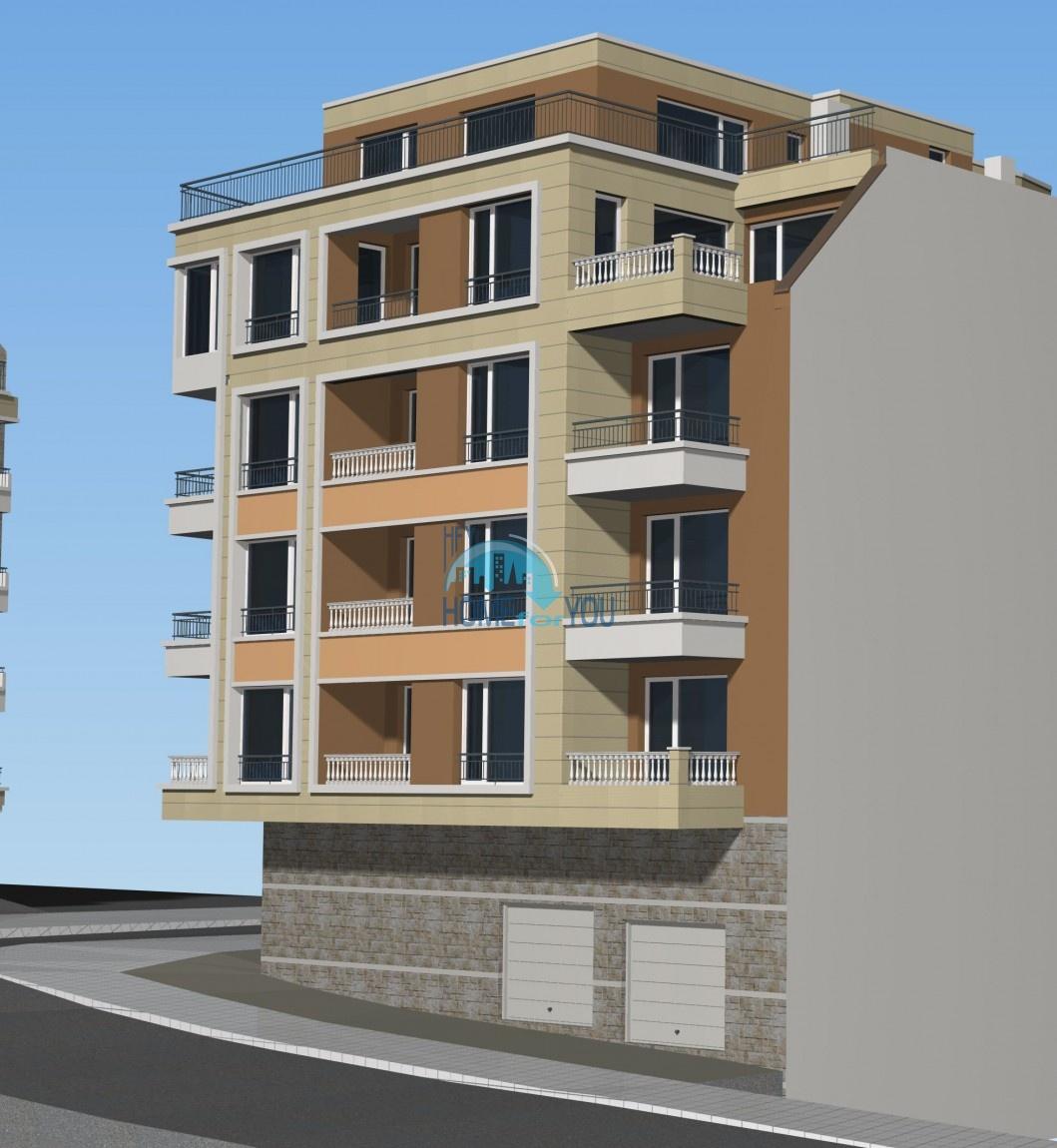 Новый жилой комплекс без таксы поддержки на первой линии моря в современном квартале Сарафово, город Бургас     4