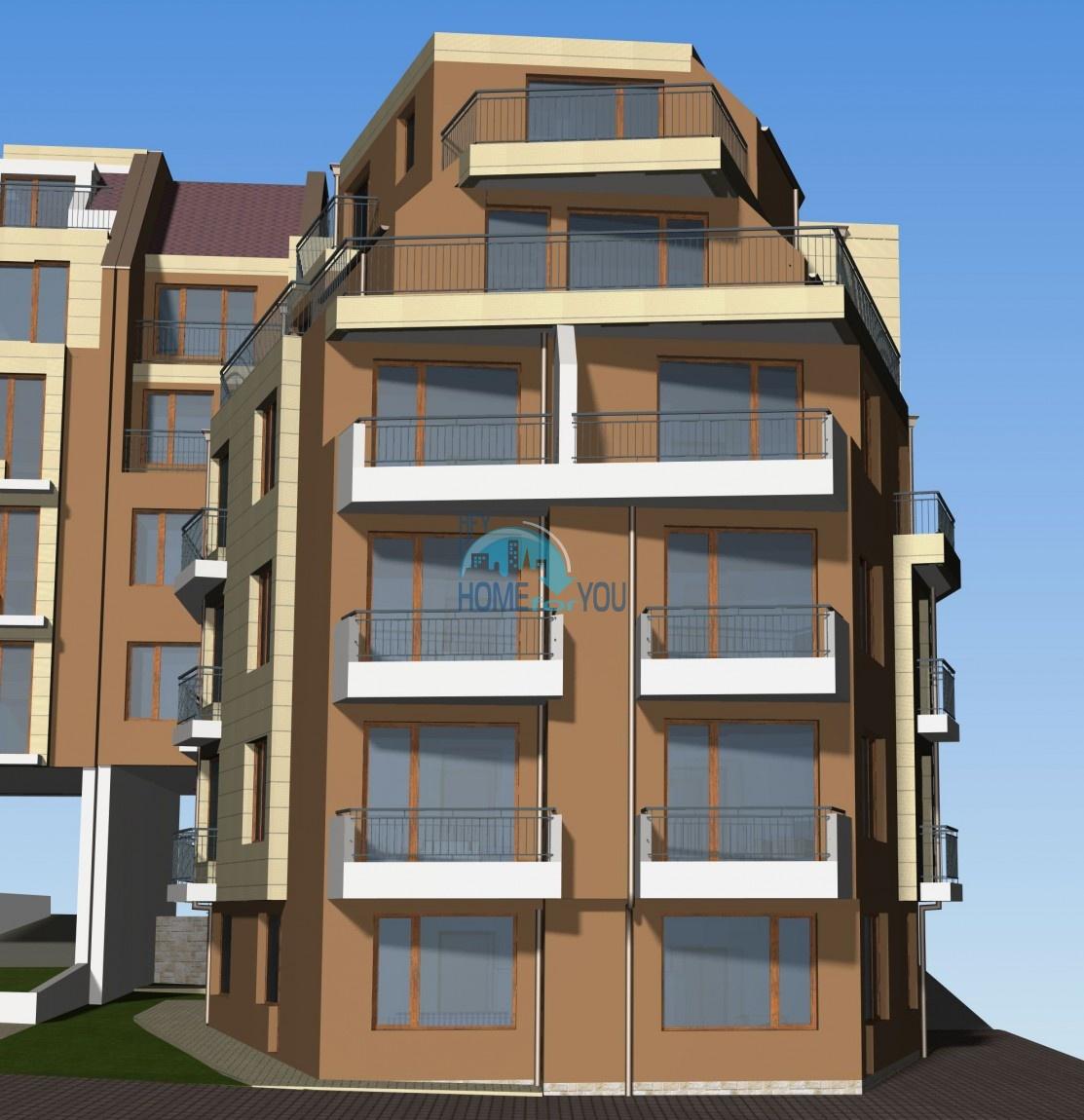 Новый жилой комплекс без таксы поддержки на первой линии моря в современном квартале Сарафово, город Бургас     5