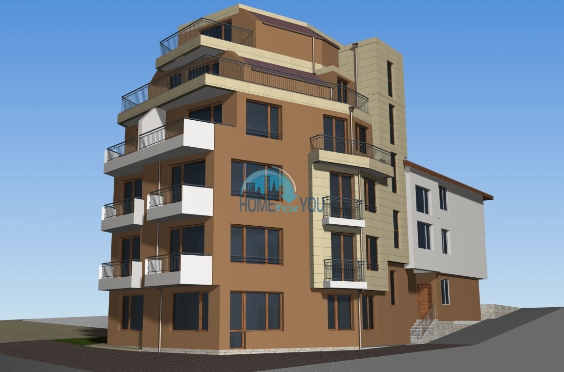 Новый жилой комплекс без таксы поддержки на первой линии моря в современном квартале Сарафово, город Бургас     2