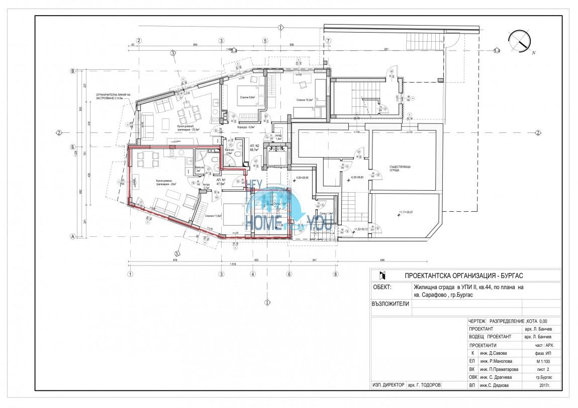 Новый жилой комплекс без таксы поддержки на первой линии моря в современном квартале Сарафово, город Бургас     8