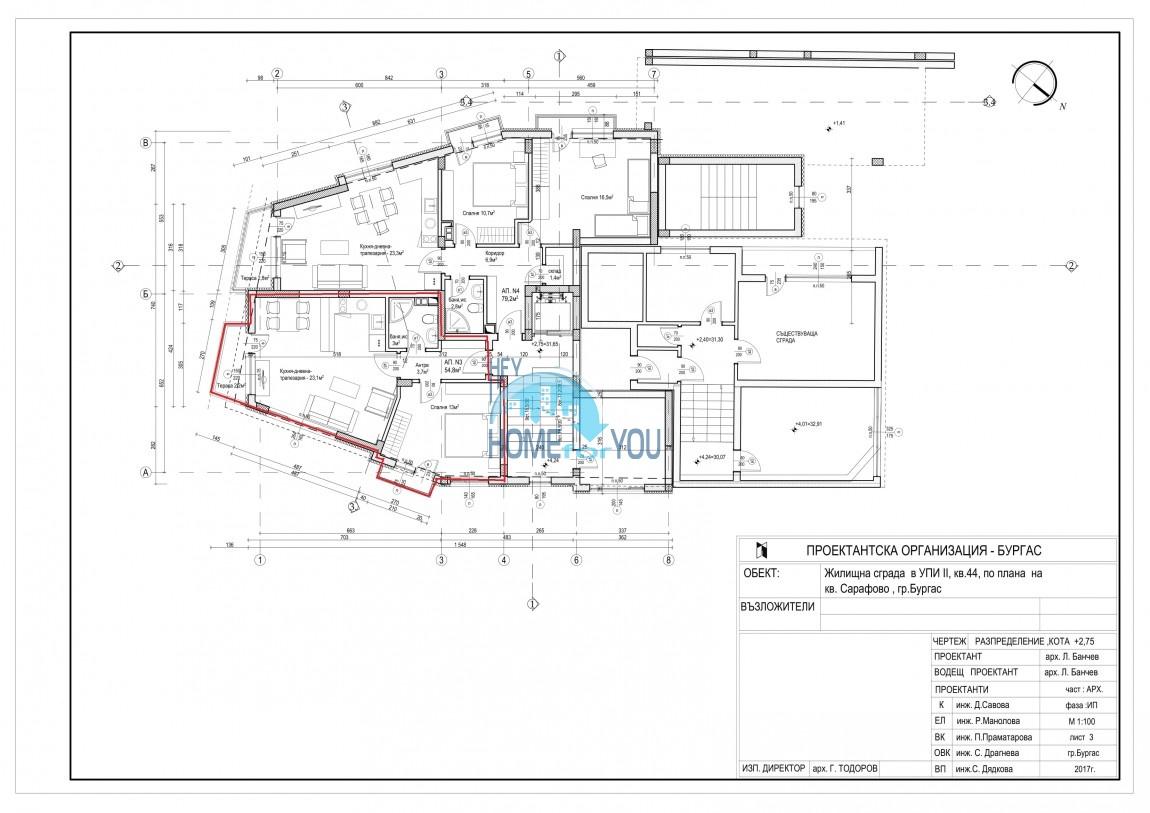 Новый жилой комплекс без таксы поддержки на первой линии моря в современном квартале Сарафово, город Бургас     9