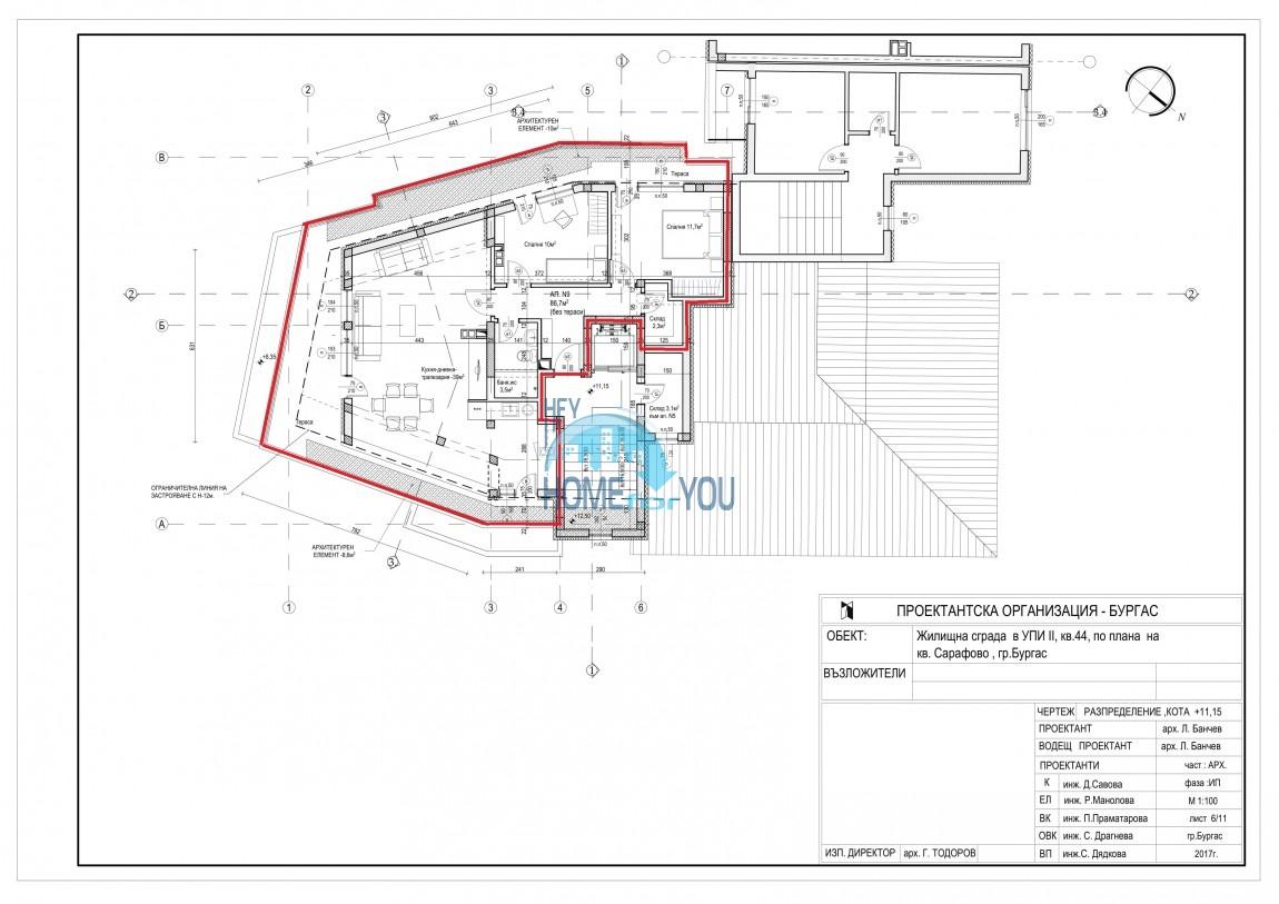 Новый жилой комплекс без таксы поддержки на первой линии моря в современном квартале Сарафово, город Бургас     12