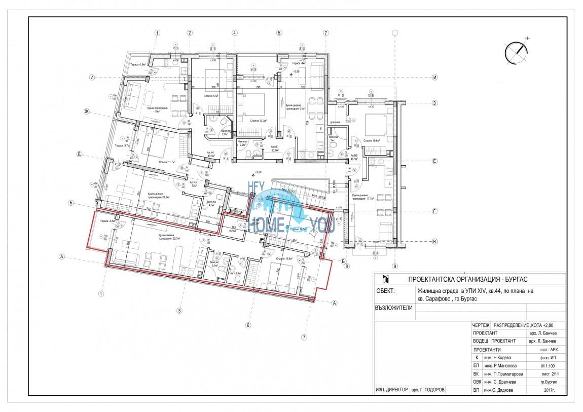 Новый жилой комплекс без таксы поддержки на первой линии моря в современном квартале Сарафово, город Бургас     13