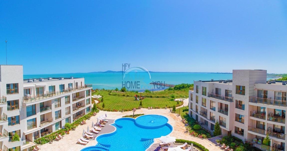 АКЦИЯ! Diamond Beach - комфортабельные апартаменты на первой линии моря в современном квартале Сарафово, Бургас