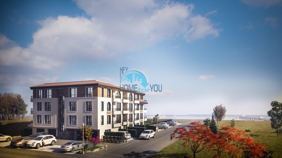 Просторные и светлые апартаменты с прекрасной морской панорамой в жилом элитном комплексе «Bayview Deluxe», престижный квартал Сарафово в городе Бургас