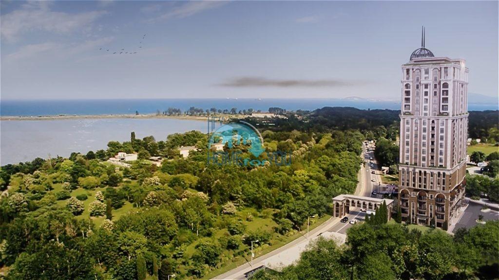 Новая роскошная трехкомнатная квартира с видом на море со всех комнат, Лазурный берег, Бургас