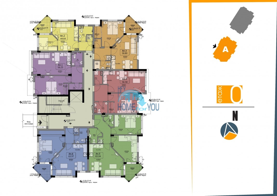BAYVIEW apartments - новый жилой комплекс с великолепным видом на море в городе Бургас, квартал Сарафово 8