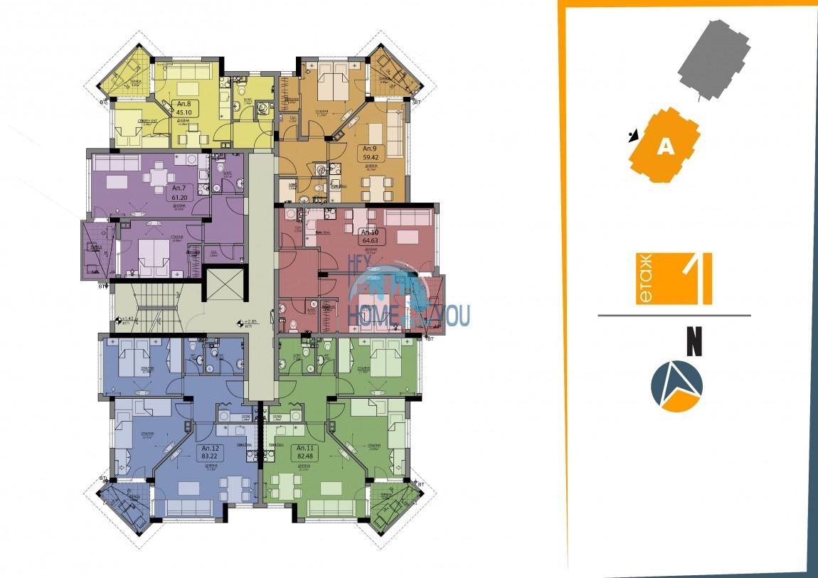 BAYVIEW apartments - новый жилой комплекс с великолепным видом на море в городе Бургас, квартал Сарафово 9
