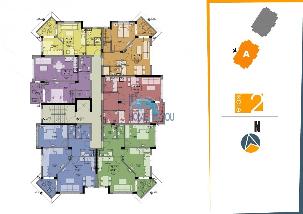BAYVIEW apartments - новый жилой комплекс с великолепным видом на море в городе Бургас, квартал Сарафово 10