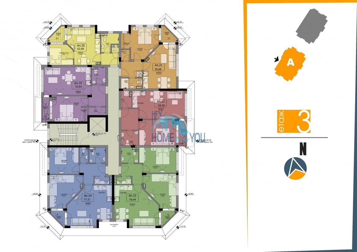 BAYVIEW apartments - новый жилой комплекс с великолепным видом на море в городе Бургас, квартал Сарафово 11