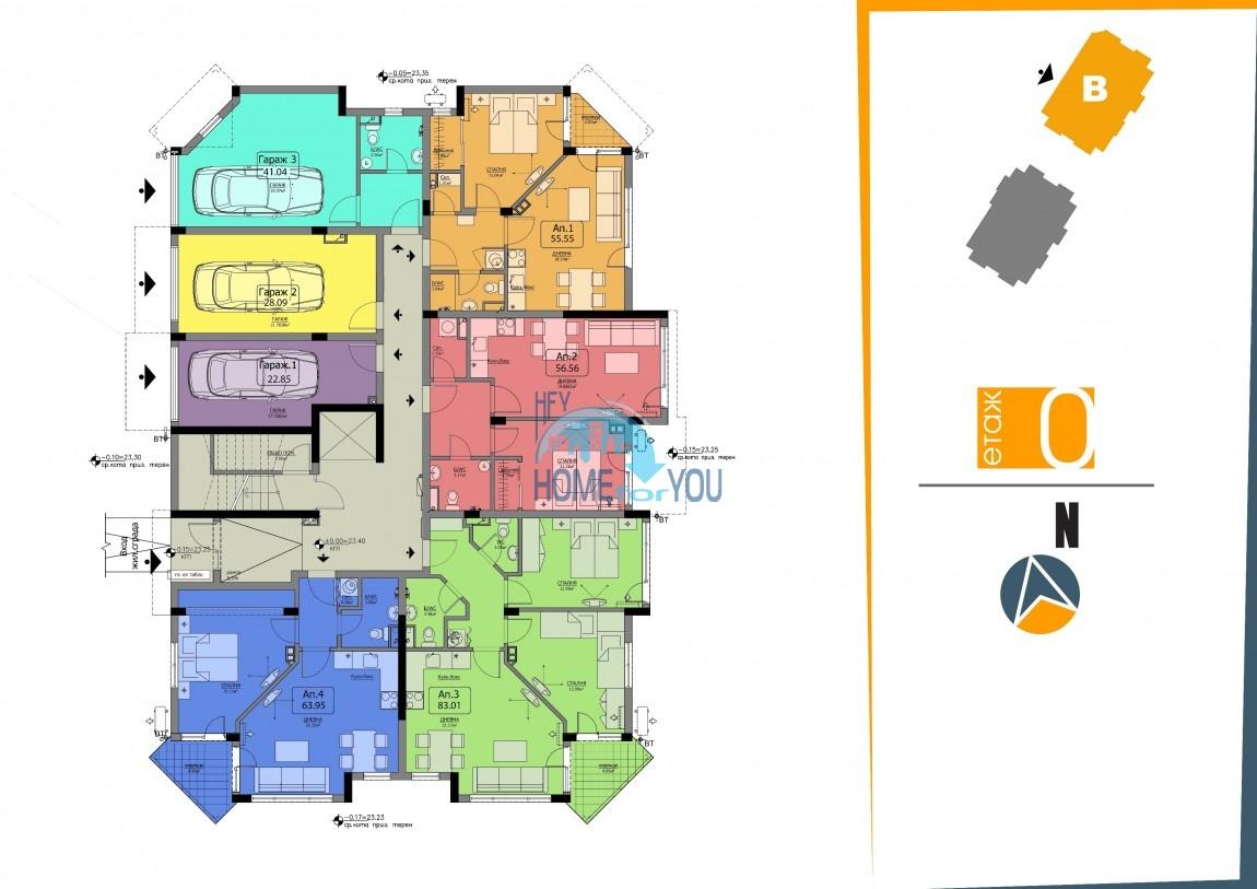 BAYVIEW apartments - новый жилой комплекс с великолепным видом на море в городе Бургас, квартал Сарафово 12