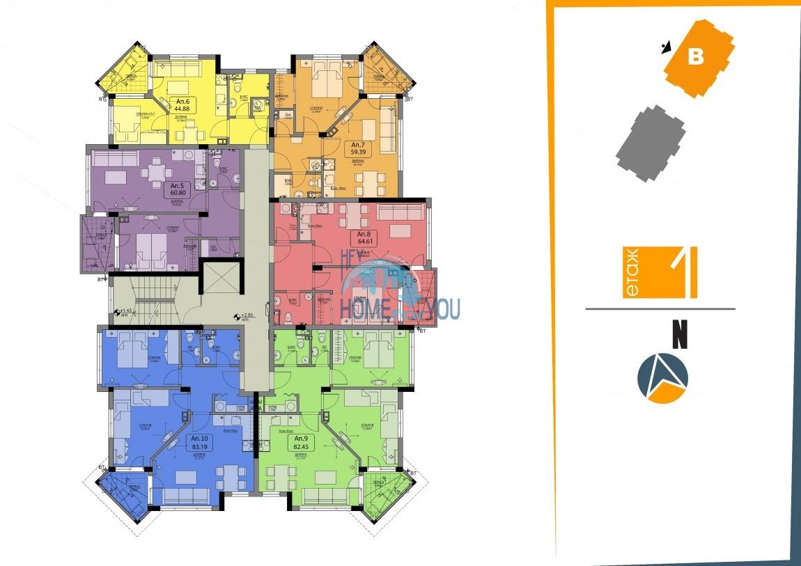 BAYVIEW apartments - новый жилой комплекс с великолепным видом на море в городе Бургас, квартал Сарафово 13