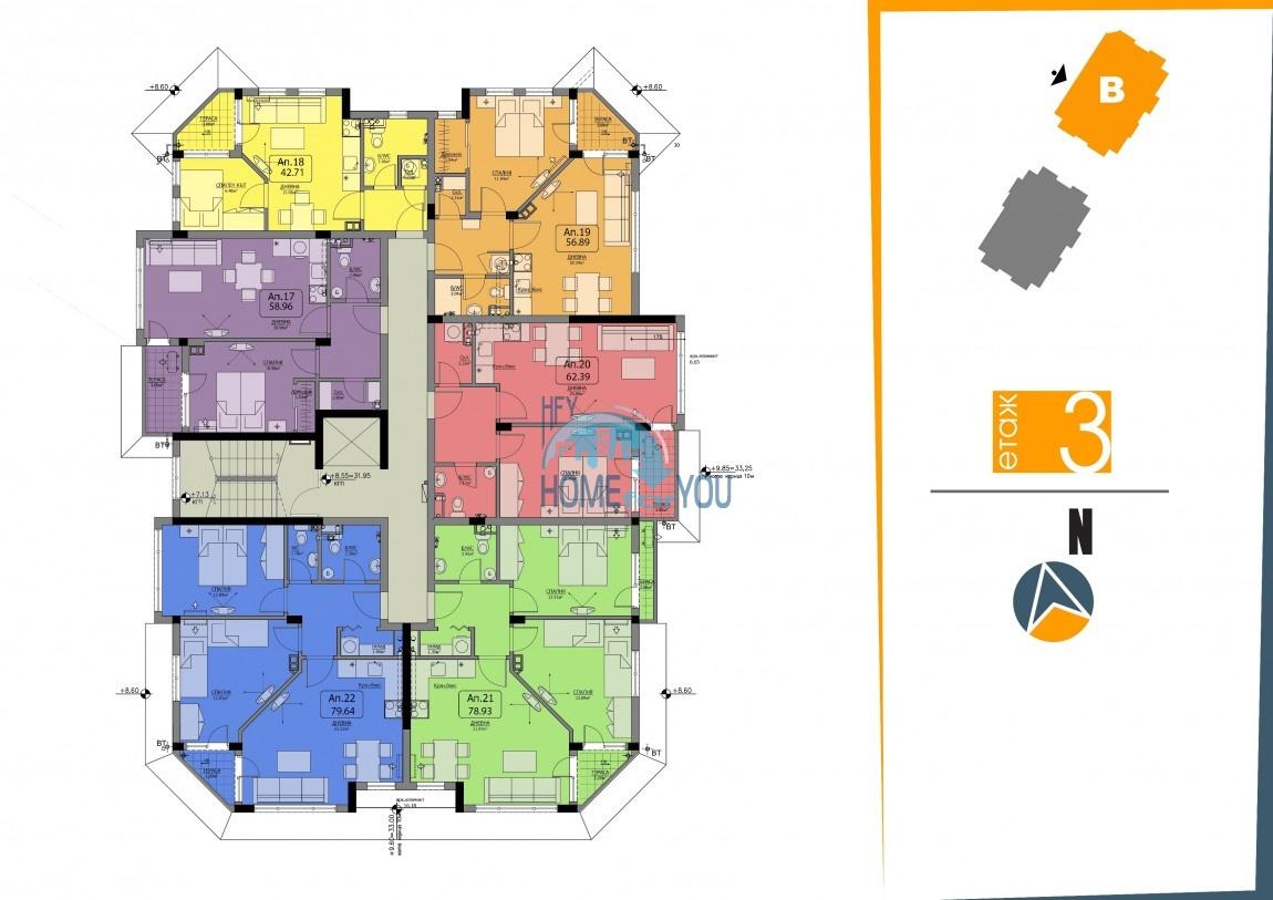 BAYVIEW apartments - новый жилой комплекс с великолепным видом на море в городе Бургас, квартал Сарафово 15