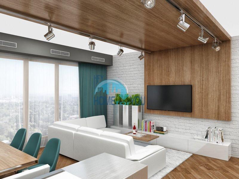 Шикарная трехкомнатная квартира с панорамным видом на море в комплексе Лазурный берег, г. Бургас