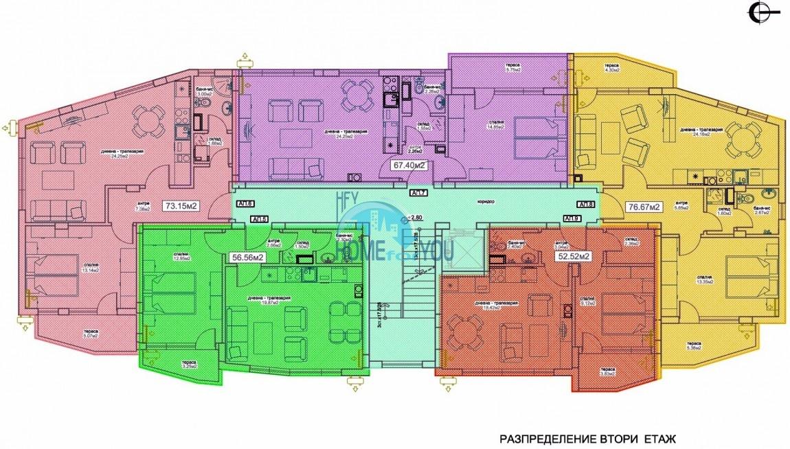 Функциональные и уютные квартиры от застройщика в благоприятном городе Бургас, квартал Сарафово