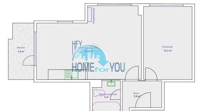 Двухкомнатная квартира недорого в Бяле 9
